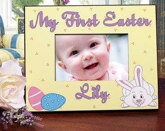 Baby's First Easter Picture Frame, Personalized Baby's First Easter Picture Frame
