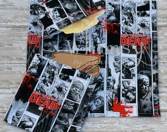Walking Dead,  Lunch set, reusable sandwich bag, reusable snack bag, cloth napkin, ecofriendly lunch set