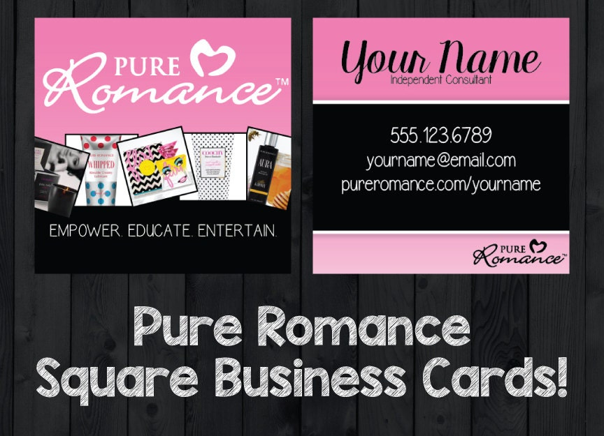 Pure romance consultant square business cards by for Pure romance business cards