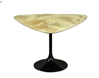 10% Off Sale! Vintage Mid Century Modern Resin Metal Tulip Base Saarinen Style Side Accent Table B
