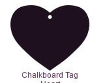 5 Pack of Chalkboard Tag 8 1/2 x 11
