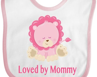 Loved by Mommy Baby Bib by Inktastic