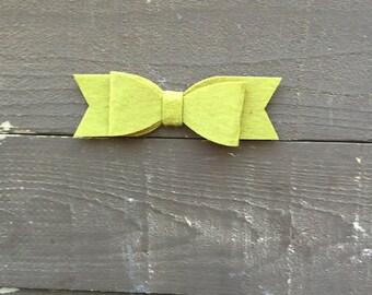 Olive felt bow