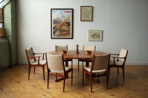 Set of 6 chairs by Johannes Andersen for Uldum Møbelfabrik