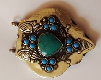 Turquoise Afghan pendant.