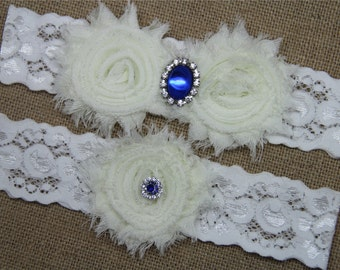 Ivory Wedding Garter,Bridal Garter Set,Keepsake Garter,Toss Garter,Ivory Lace Garter,Ivory Wedding Garter Belt - 400-3