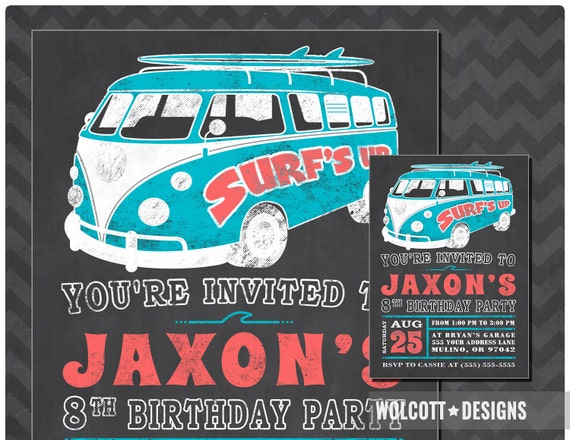 Beach party invitation summer party surfs up birthday il570xn stopboris Image collections