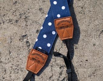 Handmade Cotton Camera Strap (Style: Polk Your Dot) Photographer Supply Co Photo Gift