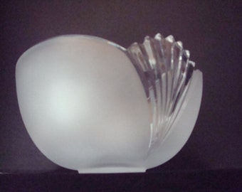 Vintage art deco style frosted bowl