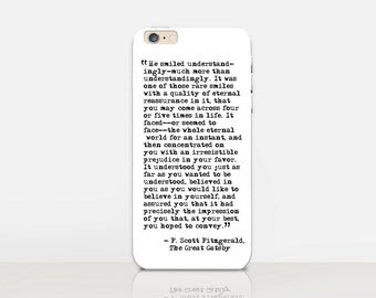Great Gatsby Quote Phone Case For- iPhone 8, 8 Plus, X, iPhone 7 Plus, 7,  SE, 5, 6S Plus, 6S, 6 Plus, Samsung S8, S8 Plus, S7, S7 Edge