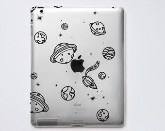 Planets Transparent iPad Case For - iPad 2, iPad 3, iPad 4 - iPad Mini - iPad Air - iPad Mini 4 - iPad Pro