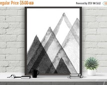 SALE Abstract Printable Art Wall Decor, Mountains Poster, Home Decor, Instant Download Printable Art, Grey Decor, Typography Poster,Scandi D