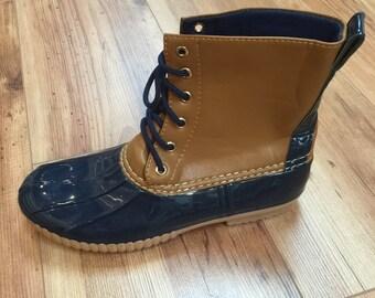 Monogram Duck Boot, monogrammed duck boots, preppy monogrammed boots