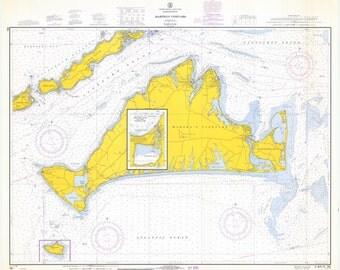 Martha's Vineyard Map 1968