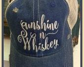 Sunshine ~n~ Whiskey Ball Cap