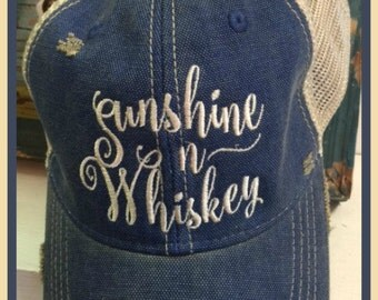 Sunshine ~n~ Whiskey Ball Cap