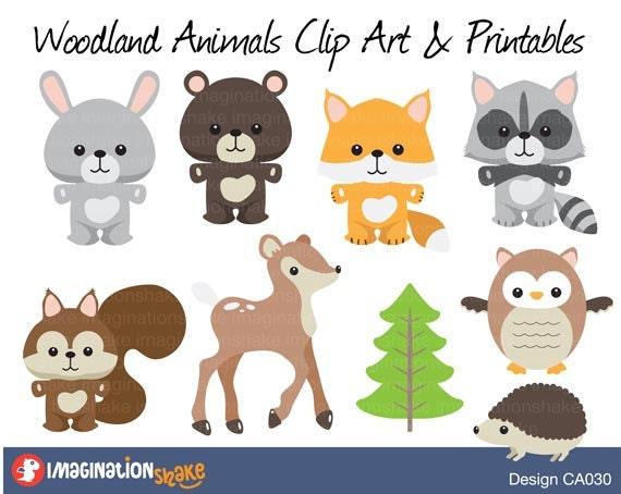 Exhilarating image for printable woodland animals