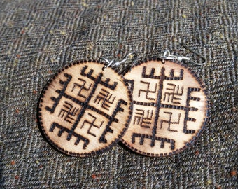 Hands of God earrings - Slavic pagan symbol