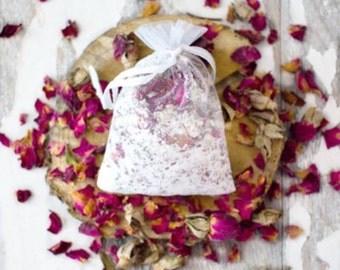 Rose Bath Soak - Goats Milk Bath Tea - Rose Tub Tea - Milk Bath - Goats Milk Bath Soak - Rose Bath Tea - Shower Favors - Gifts for Her
