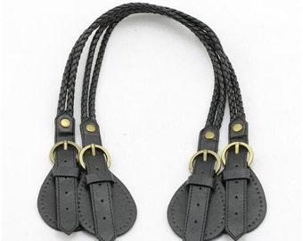 62cm braided-cord PU  bag purse handle