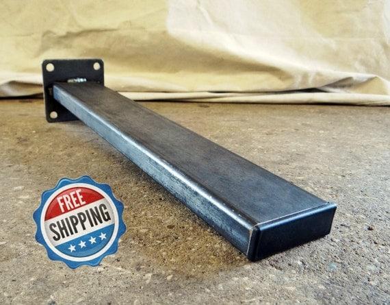 Set of rectangular tubing steel table legs dining