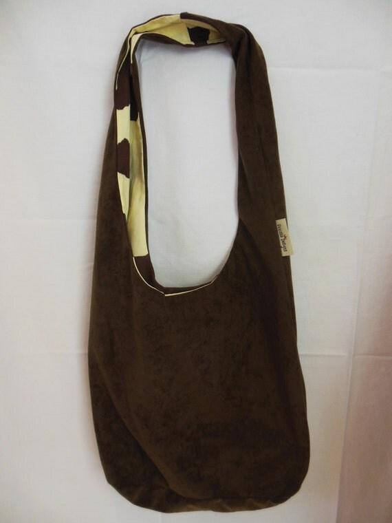 Casual Hobo Bag, Dark Brown