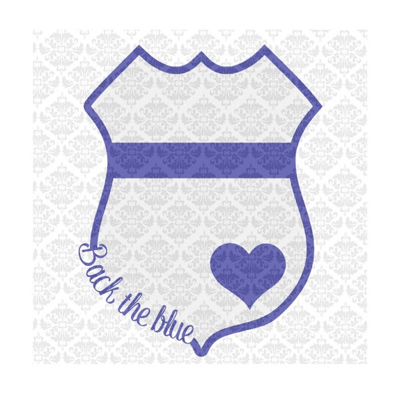 Police Wife Svg, Police Badge With Heart SVG, Back The Blue Svg, Police Outline Badge SVG, Police Badge SVG, Police Officer Svg, Police