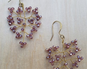 Amethyst Crystal Branch Earrings