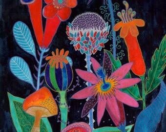 Morganna, Original Imaginary Botanical Art Painting