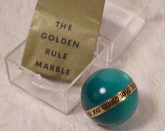 Golden Rule Marble in Original Case