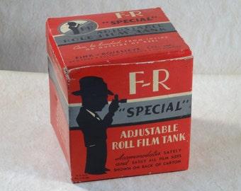"SALE!  REDUCED PRICE!  Fink-Roselieve ""F-R Special"" Bakelite Roll Film Tank"