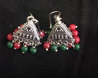 Daily wear German silver earring