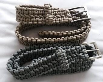Paracord Belt, Double Cobra Weave, Custom Made, Choose colour & size