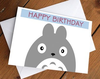 TOTORO CARD // my neighbor totoro, anime, japanese, christmas, holiday, festive, greeting card, cute, love, friendship, birthday