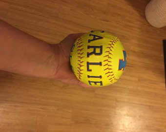 2 color embroidered monogrammed softball