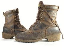 10 D - Carolina Steel Toe Logger Boots