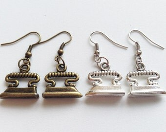 IRON Earrings Charlady Maid Gift Charwomen Gift Iron Jewelry Iron Gift Charlady Gift Charlady Earrings Charlady Jewelry Iron Jewelry Gift