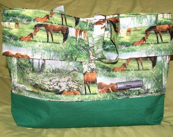 Peaceful Horse Display Purse/Tote