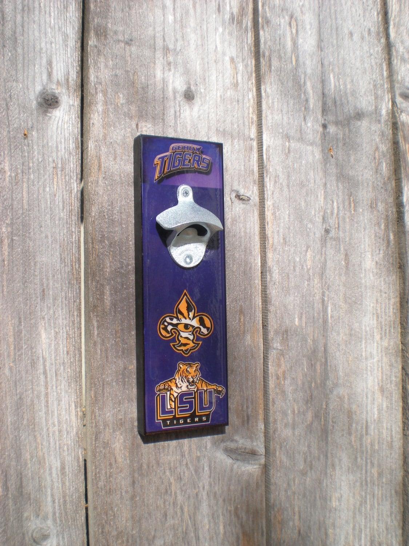 Lsu Tigers Bottle Opener Magnetic Cap By Flipitcraftworks