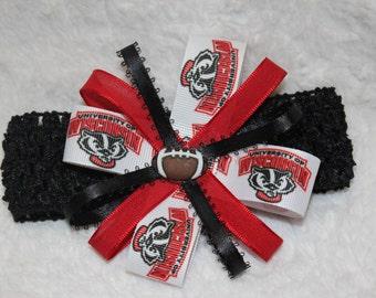 Wisconsin Badgers Bow Headband