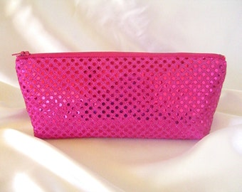 Hot Pink Sequin Clutch - Hot Pink Sequin Bag - Bridesmaid Sequin Clutch - Holiday Clutch - Special Occasion - Winter Formal Clutch