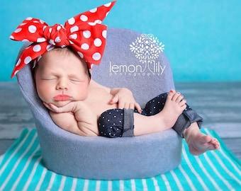 DOTTIE RUBY Gorgeous Wrap- headwrap; fabric head wrap; polka dot head wrap; newborn headband; baby headband; toddler headband; baby headwrap