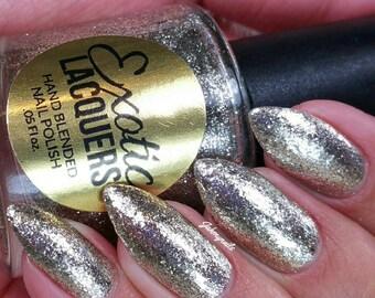 FLAWLESS Silver Metallic Flakie Glitter Nail Polish