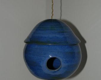 Pottery bird houses