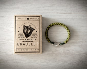 Men's Crab bracelet, men's jewellery, urban bracelet moss-dark green, Valentine's Day gift, bracelet for her and him