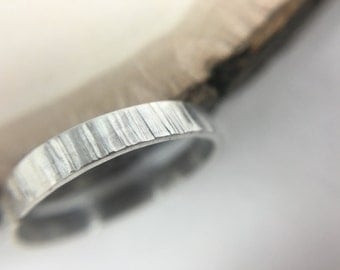 Textured Ring Band in Sterling Silver or 14k Gold Filled