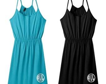 Monogram Strappy Dress - Tees2urdoor