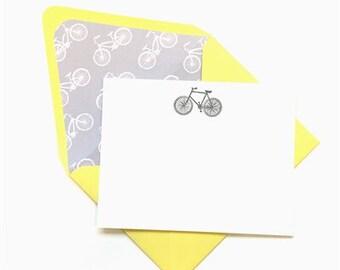Bicycle Stationery// Note Set/ Bike Notecards // Travel Stationery