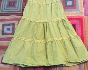 Americana Prairie Green Apple Skirt