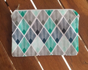 Blue & Green Diamond Coin Purse